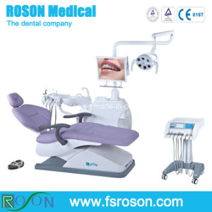 Roson High Quality Dental Equipment Dental Chair with Cart