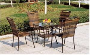 PE Wicker Rattan Outdoor Furniture Garden Dinner Set Design pictures & photos