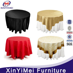 Hot Sales Wholesale Double Layer Table Cloth for Wedding and Hotel Banquet Decoration pictures & photos