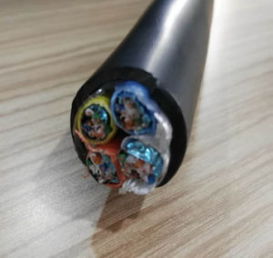 4*CAT6 Multi-Conductor TPE Jacketed 4*CAT6 Cable (Cat 6 FTP 23AWG/4Pairs) 5c Solid pictures & photos