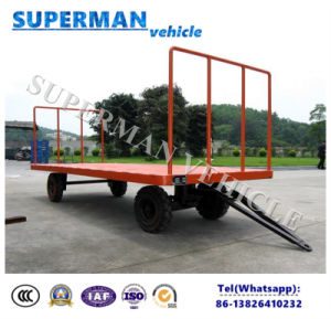 1t Utility Flatbed Industrial Cargo Drawbar Full Trailer for Luggage pictures & photos