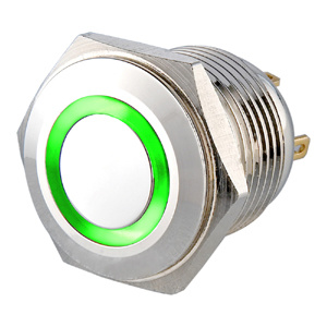 19mm Short Body Waterproof Metal Pushbutton Car Switch with Orange LED pictures & photos
