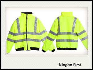 High Visibility Traffic Safety Jacket with Black Polar Fleece Inside pictures & photos