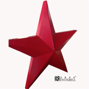 PVDF Red Star Shape Aluminum Panel for Decoration pictures & photos
