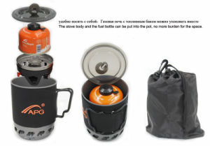 Windproof Backpacking Solo Gas Burner pictures & photos