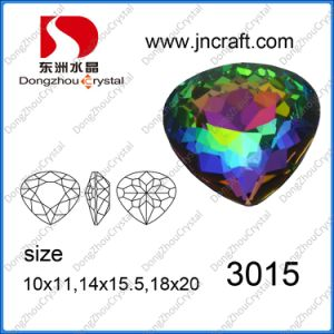 Crystal Glass Fancy Loose Stone Bead (DZ-3015) pictures & photos