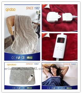 Washable 5 Heat-Settings Controller Electric Throw Blanket for EU Market pictures & photos