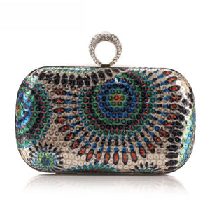 Wholesale Designer Party Bag Fashion Sequin Ring Clutch Bag pictures & photos