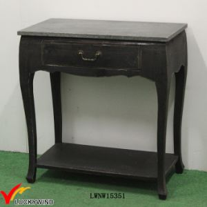 Drawer Solid Wood Small Black Console Table pictures & photos