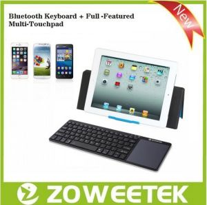 Zoweetek-Wireless Ultra-Slim Bluetooth 3.0 Keyboard with Mousepad for Tablet PC pictures & photos