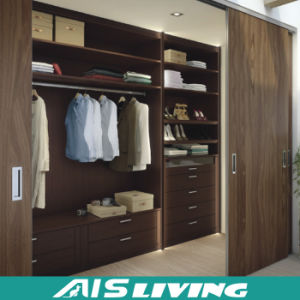 Hot Sale Design Style Bedroom Furniture Solid Wood Wardrobe Closet (AIS-W64)