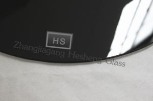 10mm Round Black Toughened Glass as Round Table pictures & photos