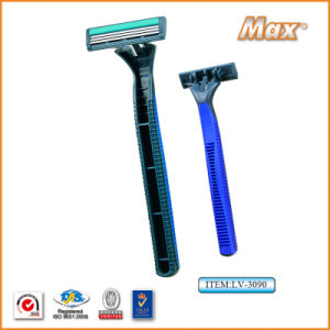 Triple Blade Stainless Steel Blade Disposable Shaving Razor (LV-3090) pictures & photos