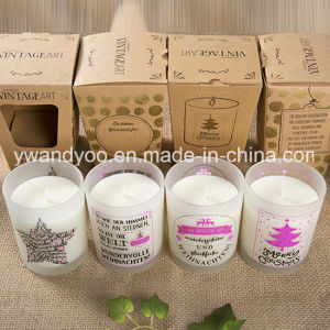 2016 New Designed Scented Soy Candle in Glass Jar