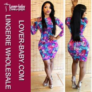 Purple Lady Long Sleeves Bodycon Celebrity Club Dress (L27711) pictures & photos