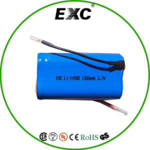 Long Life Li-ion AA Battery 14500 3.7V Battery 1500mAh pictures & photos