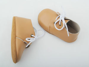 New Designs Lace up Leather Baby Oxford Shoes in Stock