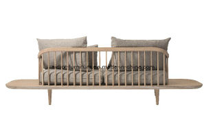 (SD-6005-2T) Modern Hotel Restaurant Living Room Furniture Wooden Fabric Sofa with Table pictures & photos