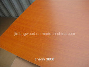 Indoor Usage Fiberboard Furniture Grade Cherry Melamine MDF pictures & photos