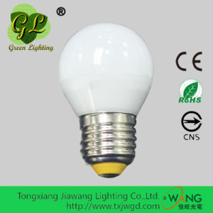 Warm White Ultrasonic G45 3W LED Lamp with CE