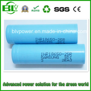 18650 2500mAh 25r Li-ion Battery with Samsung Inr18650-25r High Drain Rechargeable 18650 Mod Battery pictures & photos