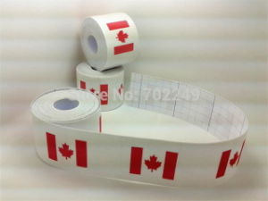 Cotton Adhesive Kinesio Tape with Cotton Material Canadain Flag Design pictures & photos