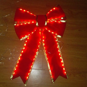 Red Decorative LED Christmas Bow Tie pictures & photos