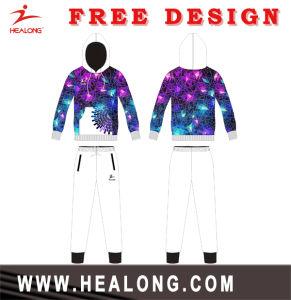 Healong Latest Design Sportswear Full Dye Sublimation Plain Hoodie pictures & photos