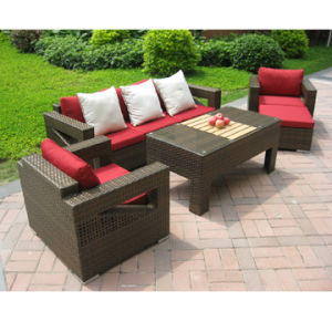 Outdoor Rattan Leisure Coffee Set Dining Furniture (DS-06009) pictures & photos