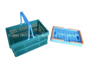 Medium Size Folding Plastic Basket (FB002) pictures & photos