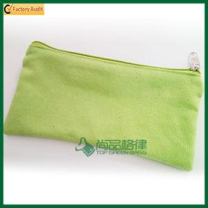 2016 Fashion Small Canvas Zipper School Pencil Bag (TP-PCB005) pictures & photos