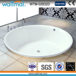Big Round High Quality Simple Drop-in Bathtub (WTM-02832D) pictures & photos