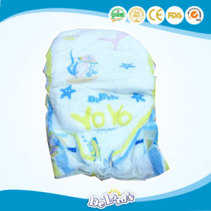 Magic Tape Cotton Backsheet Elastic Waist Baby Diapers pictures & photos