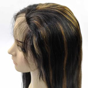 2016 New Fashion Malaysina Human Hair Full Lace Wig Mix Color Straight with Baby Hair pictures & photos