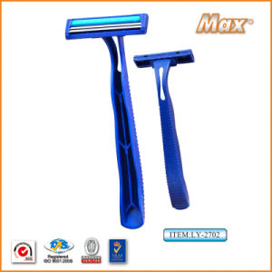 Twin Stainless Steel Blade Disposable Razor Fro Man (LY-2702) pictures & photos
