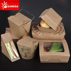 Salad Sushi Burger Noodle Sandwich Cake Deli Paper Packaging pictures & photos