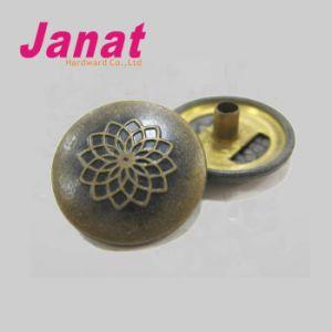 Brass Custom Made Metal Logo Buttons Jeans Button