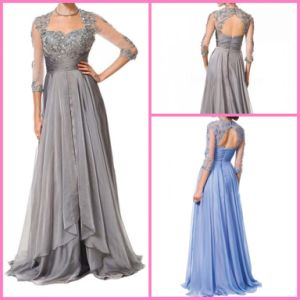 Long Sleeves Party Prom Formal Gown Beading Empire Bridesmaid Dress Yao171 pictures & photos