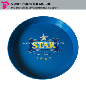 Plastic Round Star Beer Serving Tray with Customized Printing pictures & photos