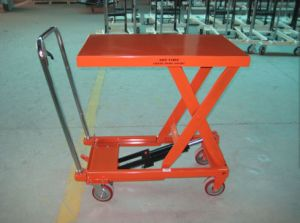 300-750kg Scissor Lifting Pallet Truck with High Quality pictures & photos