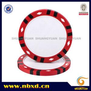 14G 3-Tone Twelve Stripes Diamond Clay Print Poker Chip pictures & photos