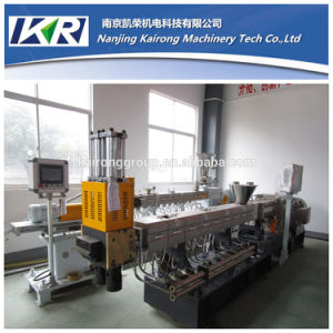PVC Compounding Twin Screw Plastic Extruder Price and Laboratory Pelletizer Extruder pictures & photos