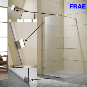 Walk-in 8mm (5/16′′) Toughen Glass Shower Screen Bathroom Furniture pictures & photos