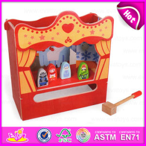 2015 New and Popular Wooden Knock Toy, DIY Toy Wooden Table Theatre and a Hammer Story, Role Play Toy View Theatre Table W10d102 pictures & photos