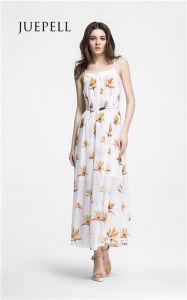 Beach Print Chiffon Maxi Women Dress pictures & photos