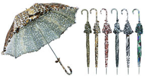 Animal Skin Print Windproof Fold Umbrellas (YS-3FD22083907R) pictures & photos