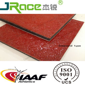 Iaaf Sandwich Type Stadium Rubber Track Used on School pictures & photos