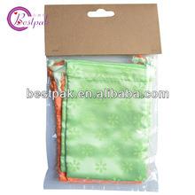 Custom Drawstring Green Satin Bag
