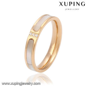 Fashion CZ Glass 18k Gold-Plated Women Imitation Stainless Steel Jewelry Finger Ring -13781 pictures & photos