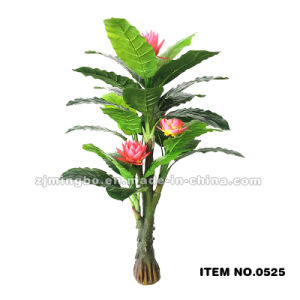 Indoor and Outdoor Decor Artificial Potted Plant with Flower 0525